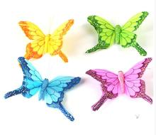 8*5CM 3 d simulation feather butterfly magnet refrigerator refrigerator home decoration mix color 24 pcs/lots free shipping