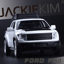 High Simulation Exquisite Model Toys: Double Horses Car Styling Ford F150 Raptor Pickup Trucks 1:32 Alloy Car Model Best Gifts(China)