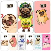piper the pug designs cell phone case cover for Samsung Galaxy S7 edge PLUS S8 S6 S5 S4 S3 MINI