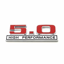 New 3D Metal Red 5.0 High Performance Rear Boot Truck Lid Emblem Badge Sticker For Ford Mustang 5.0 Liter(China)