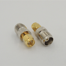 SMA male Plug to TNC Female Jack RF Coax coaxial cable Connector adapter coupler nut