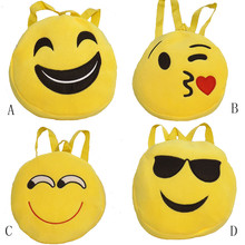 CONNED Storage Bag Plush Wallet Cute Emoji Face Pocket Smiley Expression Money Key Bag Coin Purse Portable #XTT(China)