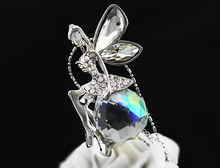 free shipping women quality hot popular Fashion Hotselling Austrian Crystal Angel fairy Pendant Chain Necklace jewelry