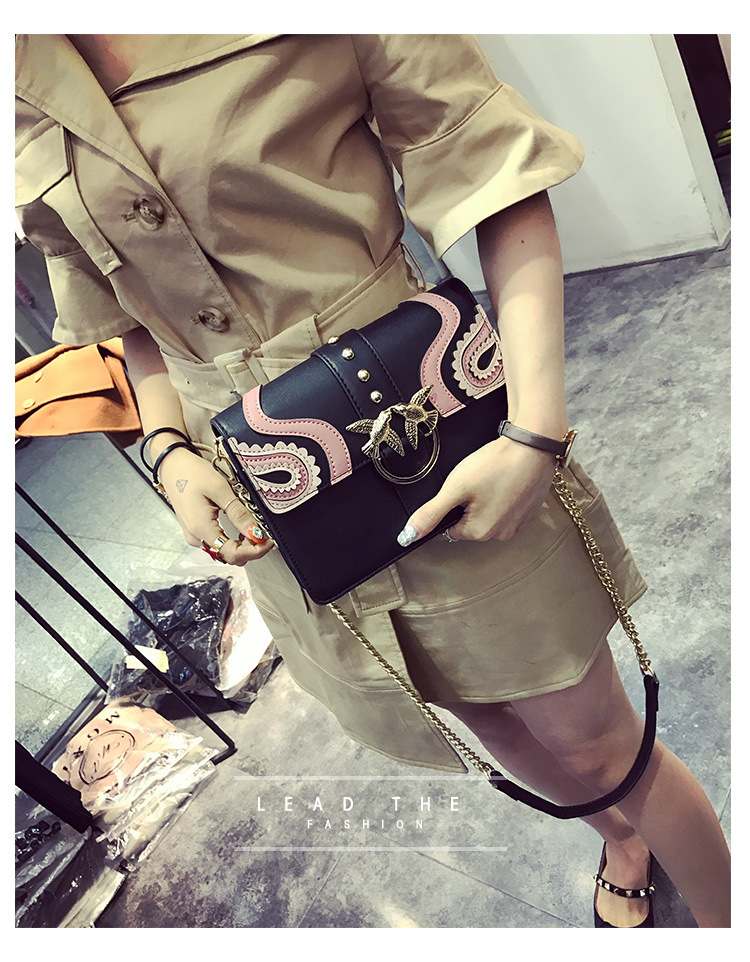 DOODOO 2017 Female Brand Hand Bag Woman Messenger Bags Lady Rivet chain Women Fashion Leather Shoulder Bag Girl Crossbody Bags