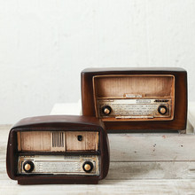 LOFT Style Resin Radio Model Antique Imitation Nostalgia Wireless Ornaments Craft Bar Home Decor(China)