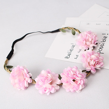 Boho Flower Hair Bands For Women Hair Accessories Headdress New Female Headbands Elastic Floral Garland Headwear