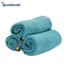 Green Hermit Soft Ultralight Travel Towels Microfiber Bag Face Shower Towel For Travel Camping Outdoor Sports Gym TB5201(China)
