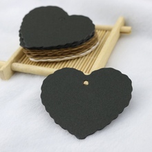 100pcs/lot Kraft Paper Hang Tags Heart Design For Wedding Party Favor Punch Label Price Gift Cards 6x6cm