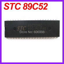 10pcs/lot STC89C52RC STC 89C52 40C-P DIP-40 Serial Programming Microcontroller Free Shipping Dropshipping(China)