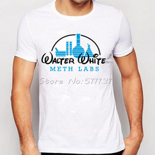 Walter White Breaking Bad Meth Labs Print T Shirts Men Fashion Custom Cool Tee Shirts Summer Short-sleeved T-shirts Tops(China)