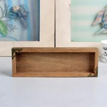 2017 New Organizers DIY wooden cosmetic Desktop storage box wooden pencil box Quality Apr14(China)