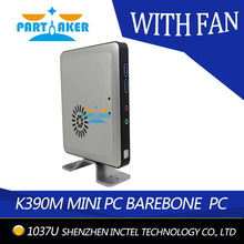 Partaker Smallest Embedded Industrial Mini PC with Fan with Intel Celeron 1037U Dual Core 1.8GHZ