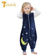 TWINSBELLA Baby Toddler Clothes Cute Cartoon Owl Coveralls for Newborns Unisex Flannel Pajamas Jumpsuits Baby Onesies Winter(China)