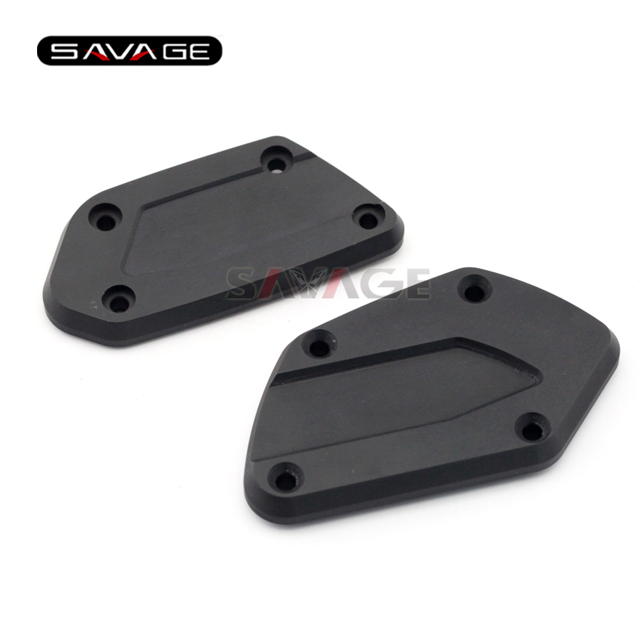For BMW R nineT R1200GS LC /Adventure 2013-2016, R1200RT LC 2014-2016 Motorcycle Front Brake Clutch Fluid Reservoir Cover Caps<br>