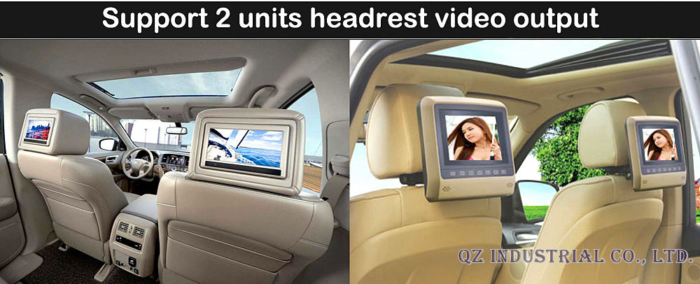 15-headrest output