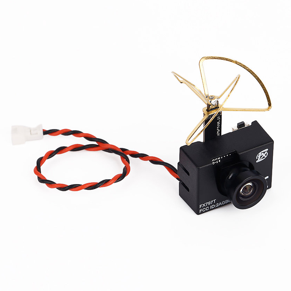 FX797T 5.8G 25mW 40 Channel AV Transmitter With 600 TVL Camera Soft Antenna for RC Quadcopters FCI#<br>