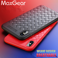 Buy MaxGear Luxury Ultra Thin Slim Back Cover Cases iPhone X 10 Case Weave Phone Cover Soft TPU iPhone 6 6s 7 8 Plus Case for $2.24 in AliExpress store
