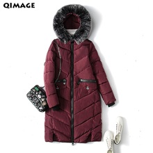 New 2017 Winter Women Wadded Jacket black Female Outerwear Plus Size 4XL Thickening Casual Down Cotton Wadded Coat Women Parkas(China)