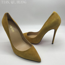 New Style Woman Sexy Pumps Brand Fashion Design Shoes High Heels Women Nightclub Shoes High Quality Suede Shoes TIAN.QI.HUANG