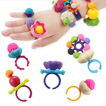 165 Pcs DIY Creative Girls Colorful Beaded Necklace Bracelet Ring Cordless Assemble Learning Toys Christmas Kids Fun Game Gifts(China)