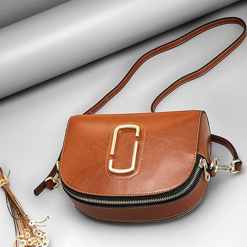 Ellacey Women Genuine Leather Shell Bags Ladies Party Bag Famous Brand Messenger Bag Womens Simple Minimal Design Shoulder Bag <br>