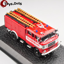 1:72 IFA W50 Alloy Diecast Fire Truck Model Diecast Car Kids Toys Collection Gifts