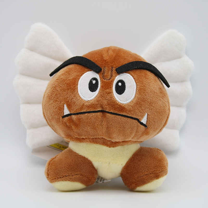 Super Mario Bros Goomba Plush Toys Game Cartoon Poisonous Mushrooms Soft Stuffed Dolls 5pcslot  (3)