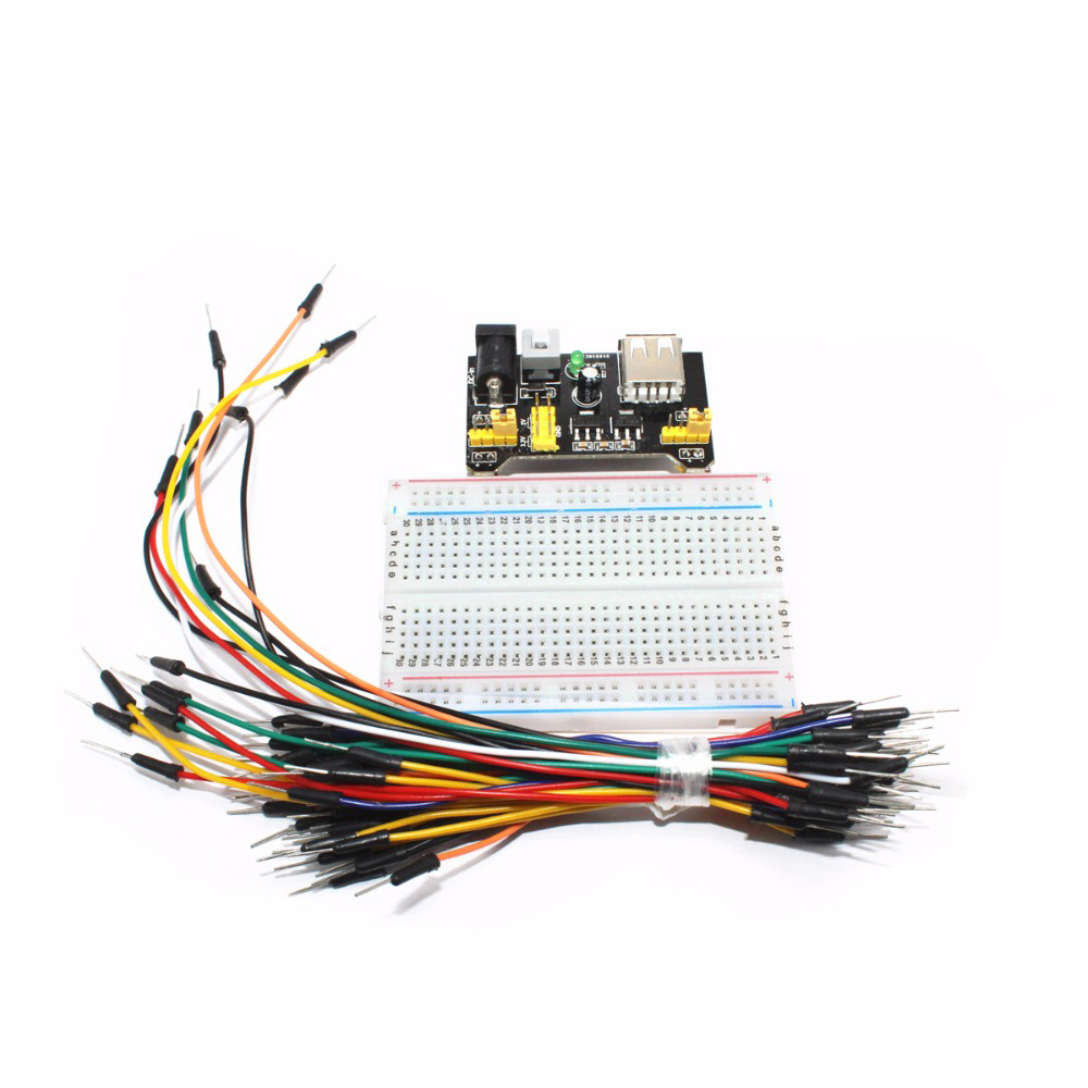 Breadboard power module + 400 points Solderless Prototype  (3)