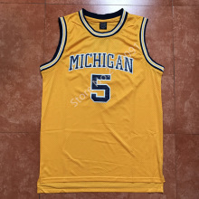 #5 Jalen Rose Michigan Wolverines College Basketball Jersey Embroidery Stitched Custom any Number and name(China)