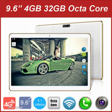 "Free Shipping 9.6 Inch Tablet PC Android 5.1 Octa Core 4GB RAM 32GB ROM GPS 3G 4G LTE Phone Call 1280*800 IPS Tablet 10"" 9"" 7""(China)"