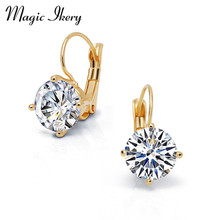 Magic Ikery New Gold Jewelry Big Zircon Crystal Gold & Silver Color Hoop Earrings for Women Luxury Wedding Bridal Jewelry(China)