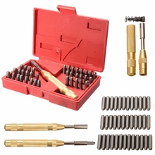 38Pcs Automatic Letter Number Stamping Metal Punch Stamp Set Tool Kit for Plastics Leather Mark Metal Punch Imprint Stamping Die(China)