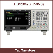 "2CH 5MHz 250MSa/s DDS Function Signal Arbitrary Waveform Generator 64M Memory Depth USB 7"" TFT LCD 800x480 16CH Output HDG2002B"