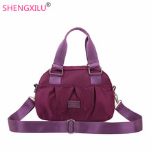 Shengxilu casual women handbags monkey style candy color nylon shoulder bags girls big brand logo messenger bags female totes