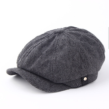 2017 new fashion Warm winter reported bonnet octagonal cap beret hat men's outdoor winter hat cap Newsboy Beret Jason Statham(China)