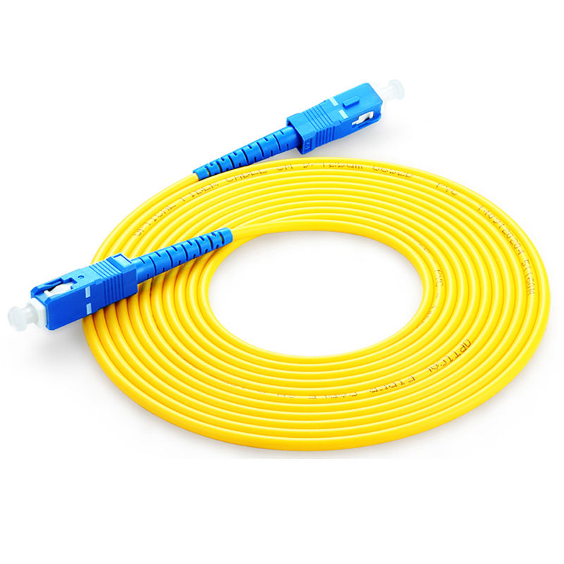 SC to SC fiber patch cord jumper cable, Single Mode SM, simplex,9/125, 20 Meters