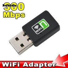 kebidu Mini 300Mbps Wireless Network Card USB Router wifi Adapter WI-FI Sender Internet for PC Laptop Wifi Signal Receiver(China)