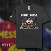 Ballon d'Or Barcelona Messi Leo Men Lionel t-shirt tops men t shirts Plus Size new fashion cotton 2017 Argentina footballer M10(China)