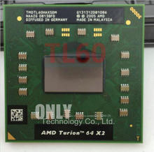 Shipping free cpu laptop Turion INTEL TL-60 CPU 1M Cache/2.0GHz/Socket S1/Dual-Core Laptop processor tl60 TL 60