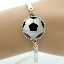 TAFREE Brand Fashion football image bracelet vintage soccer rugby men women ball fans jewelry sports events & teams gifts T802