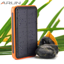 New style 20000mah power bank Waterproof solar powerbank double usb bateria externa solar charger powerbank for mobile phone(China)