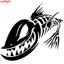 Cool Graphics Fish Skeleton Skull Fishing Monster Car Window Vinyl Decal Sticker Funny Motorcycle Stickers