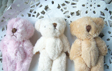 Kawaii Mini Small 4CM approx. Accessory plush Toys - 4CM Joint Bear Stuffed TOY DOLL decor Bear TOY DOLL(China)