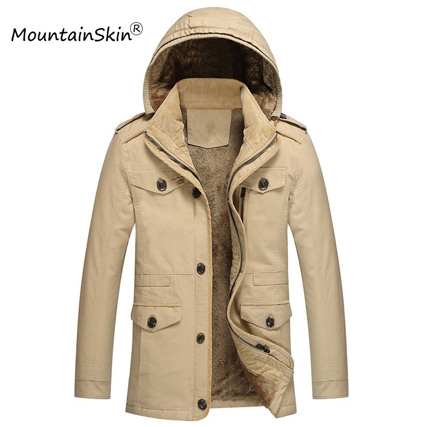 Mountainskin 6XL Men's Fleece Jackets Warm Winter Hooded Coats Thermal Thick Male Jacket Men Parkas Fashion Brand Clothing LA589