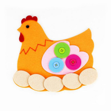 New 1 Pc Creative DIY Handmade Non-woven Fabric Material Button Preschool Tools Funny Games Early Educational Toys for Kids(China)