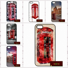 Red Telephone Box London Phone Cases Cover For iPhone 4 4S 5 5S 5C SE 6 6S 7 Plus 4.7 5.5 UJ1788(China)