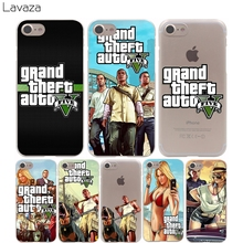 Lavaza Grand Theft Auto GTA V Cover Case for iPhone X 10 8 7 Plus 6 6S Plus 5 5S SE 5C 4 4S Cases(China)