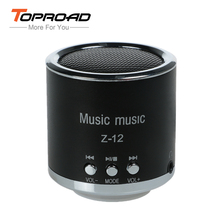TOPROAD FM Radio Speaker USB Micro SD TF Card Mp3 Mini Wired Speakers Cloumn Subwoofer Stereo Bass Music Box for Computer PC(China)