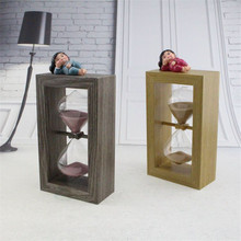 2017 Hourglass Wooden Hour Glass Sand Timer Clock Sandglass Home Office Timers Glass Craft Birthday Gift for Kids Hourglass