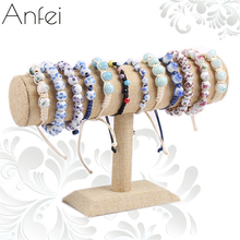 Bracelet Display Holder Bracelet Organizer Model Rack Jewelry Display Shelf Necklace Storage Linen 14 CM Bracelet Holder A220(China)